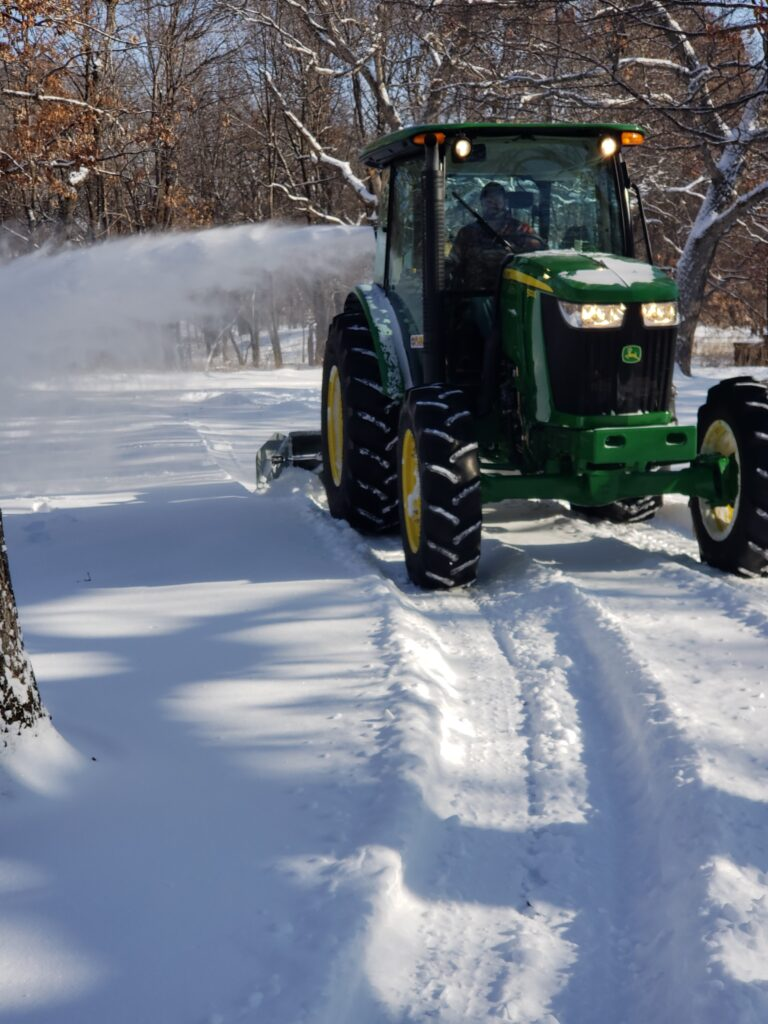 snow removal driveway forest lake, mn